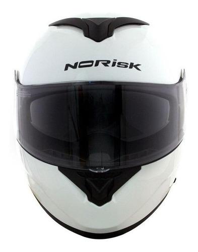 Capacete Para Moto  Escamoteável Norisk  Force  White Monocolor Tamanho 56