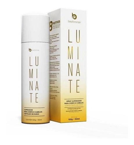 Luminate Spray Best Bronze Iluminador Corpo E Cabelos 150ml