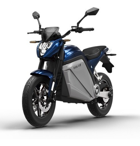 Moto Elétrica Evs Voltz Motors Azul - Uma Bateria