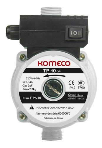 Pressurizador Para Água Fria E Quente Tp40 G4 120w Komeco