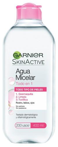 Agua Micelar Garnier Skin Active Todo En 1 Para Piel Sensible 400ml