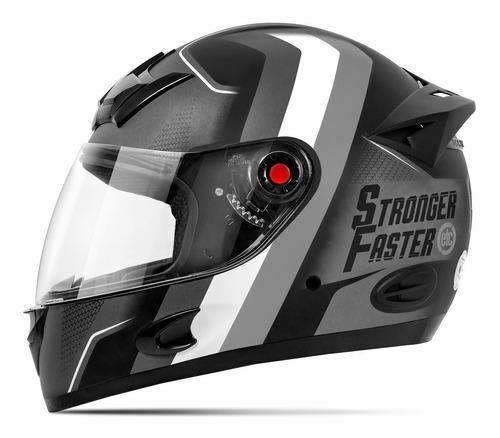 Capacete Para Moto Integral Etceter Stronger Faster Fosco