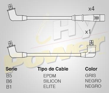 Jgo Cables Bujia Silicon Kia Pop 1.6l 4cil 1993 Foto 1