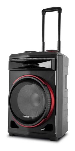 Caixa Acústica Bluetooth Philco Pcx6500 380w Radio Fm E Usb