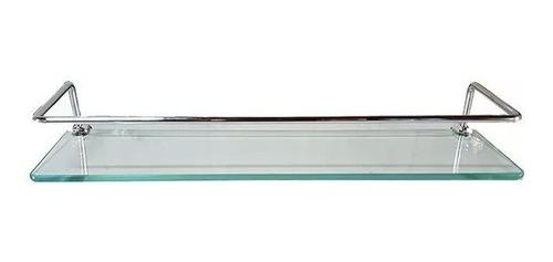 Prateleira Vidro Porta Shaampoo Incolor Com Suporte