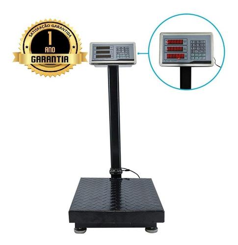Balança Piso Digital Comercial Industrial Plataforma 300kg