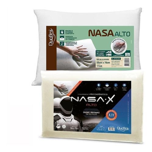 1 Travesseiro Nasa-x Alto E 1 Nasa Alto - Duoflex