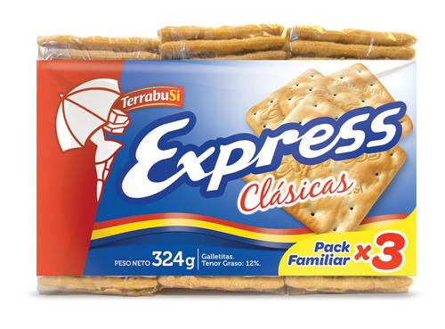 Galletita Express Clásicas 324g Pack X 3u