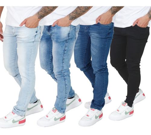 Kit  4 Calça Jeans Masculina Skinny Direto Da Fábrica