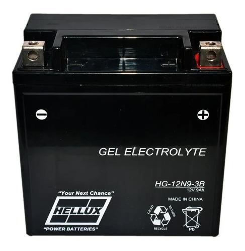 Bateri 12n9-3b Hellux De Gel Motos Cuatriciclos Y Jetsky