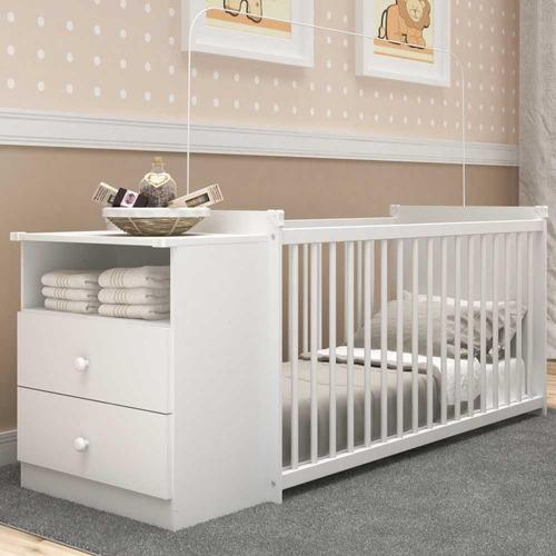 Berço Grade Fixa 3 Regulagens Multimóveis Meu Bebê 2870.010