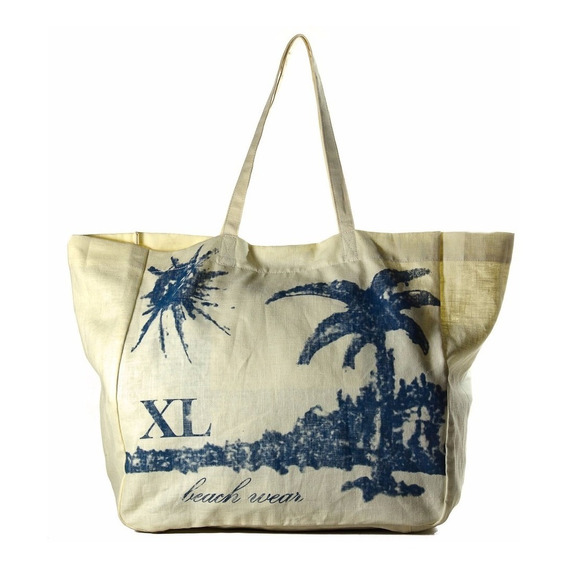 Tote Mujer Xl Extra Large Suple Azul
