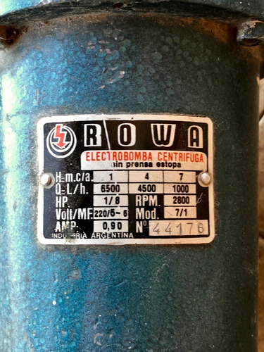 Electrobomba Centrifuga Rowa 7/1