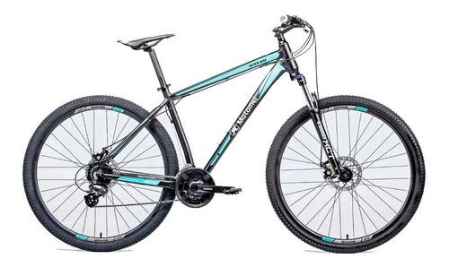 Mountain Bike Motomel Maxam 390 R29 S 24v Frenos De Disco Mecánico Cambios Shimano Color Negro/celeste