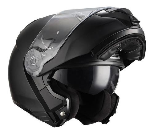 Capacete Articulado De Moto Preto Fosco Nzi Combi2 Novo