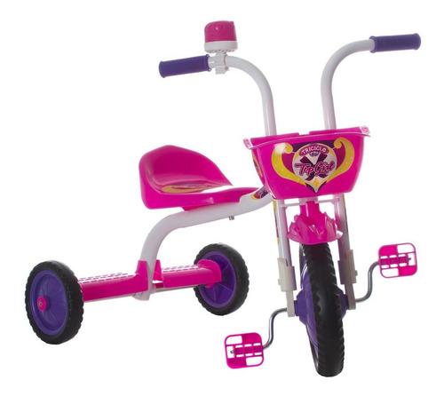 Triciclo Infantil Top Girl Rosa E Branco Pro Tork Ultra