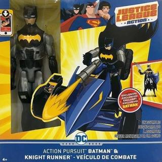 Muñeco Batman Y Vehículo De Combate Justice League Full