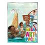 Kit Para Colorir Com Lápis De Cor E Adesivos Moana Disney