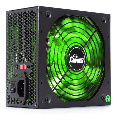 Fonte Atx 500w Reais Gamer Super Silenciosa Led Bivolt Pc