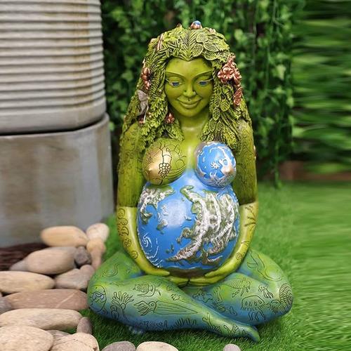 Deusa Gaia Mãe Terra 17cm Estátua Resina