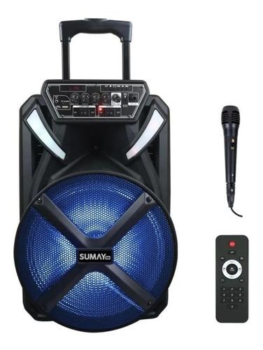 Caixa Amplificada Sumay Xprime 600w 12 Pol Bluetooth Usb Mic