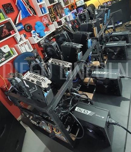 Rig De Mineração Nova Amd Mining 580/5600xt Gtx1060/70 Dual