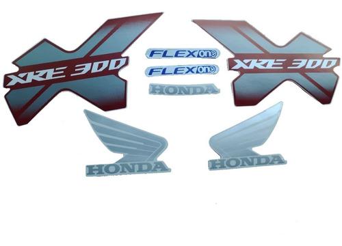 Faixa Lateral Xre300 Xre 300 2014 2015 Adesivo Vermelho