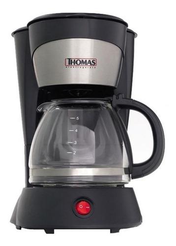 Cafetera Thomas Th-130 Eca-th130 Semi Automático Negra Y Inox De Filtro