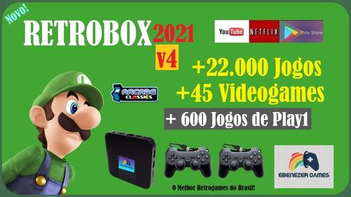 Retrobox 2021 32gb +22000 Jogos E 2 Controles