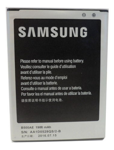 Bateria Samsung Original B500ae S4 Mini 1900mah (2016) E3042