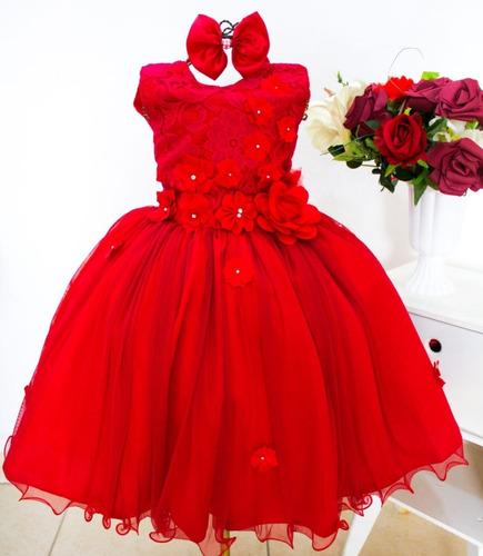 Vestido Festa Infantil Juvenil Floral Luxo Jardim Encantado