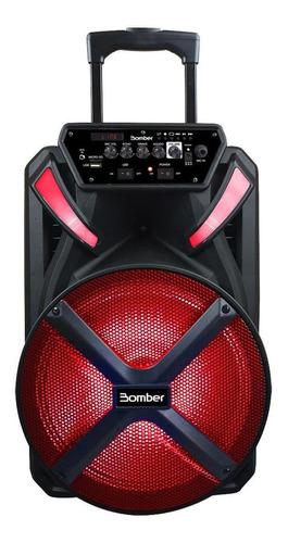 Alto-falante Bomber Papão 500 Portátil Con Bluetooth Preta 115v/240v