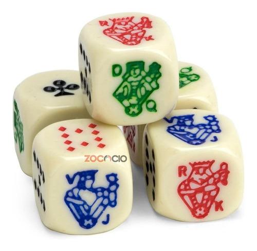 Dados De Poker Conjunto Por 5 Dados Die Poker