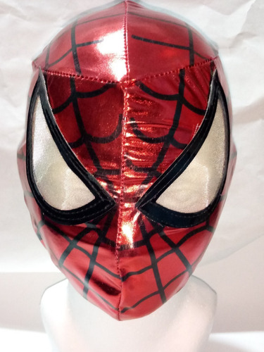 Mascara Spiderman Rojo Super Héroe Niño