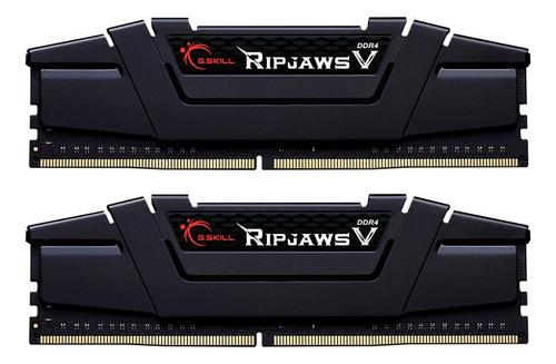 Memoria Ram Ripjaws V Color Negro  16gb 2x8gb G.skill F4-3200c16d-16gvkb