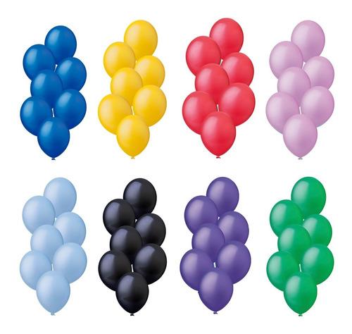 Balão Bexiga Liso Festa Decoração 9 Polegadas C/ 50 Und