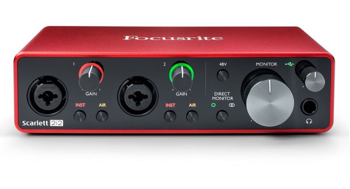Interface Focusrite Scarlett 2i2 3ra Generacion