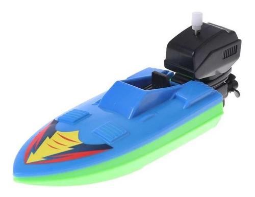 Lancha De Brinquedo A Corda Piscina Outboard Boat 16cm Barco