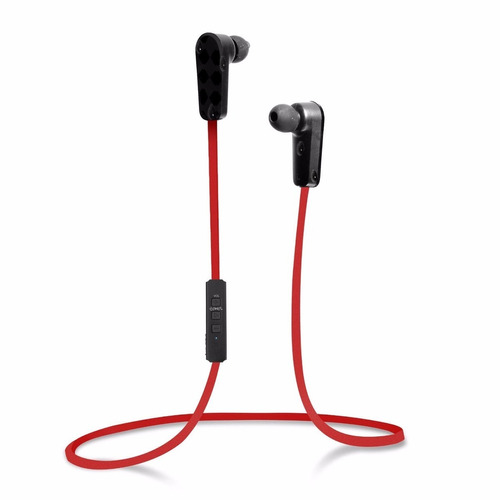 Fone Bluetooth Jarv Nmotion Pro Sport Wireless Mic Vermelho