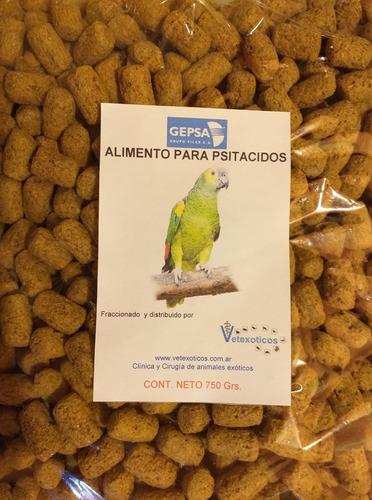 Alimento Para Psitacidos Gepsa, Bolsa Fraccionada 750 Grs