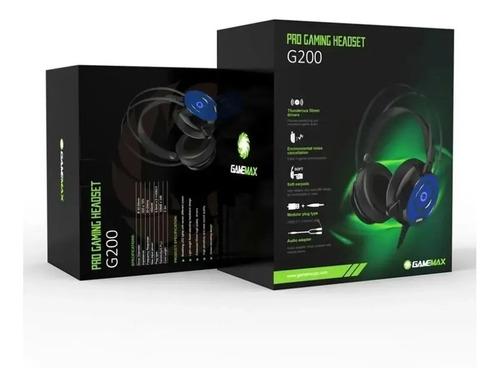 Auricular Gamer Gamemax G200 Headset  C/micrófono Luz Led
