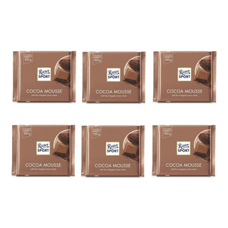 Chocolate Ritter Mousse De Chocolate Pack X 6 X 100g.