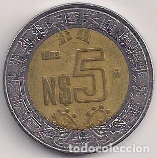 Moneda De Nuevos Pesos Valor $5 Pesos