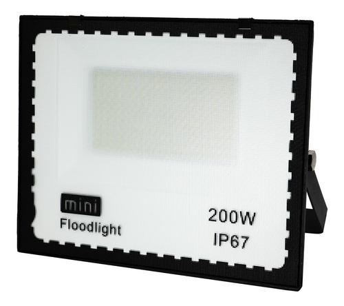 Refletor Led Holofote 200w Ip66 Bivolt Forte Luz Branco Frio