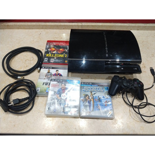 Ps3 Playstation 3 Fat + 4 Juegos Oferta