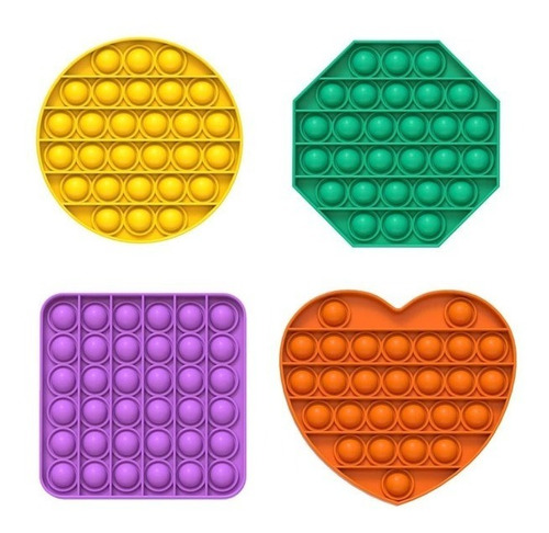 Pop-it Fidget Toy Empurre Bolha Autismo Anti-stress Original