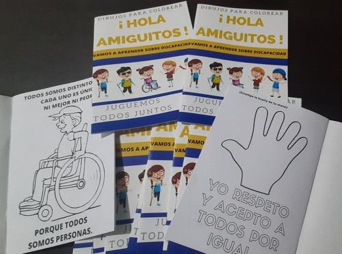 Dibujos Para Colorear Y Aprender Sobre Discapacidad