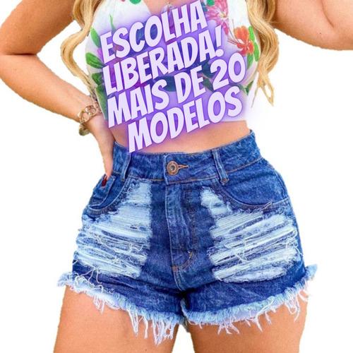 Kit 10 Shorts Jeans Feminino Cintura Alta Atacado Revenda