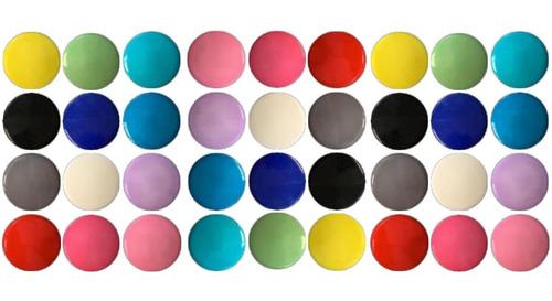 36 Imãs Coloridos Geladeira Quadros Fotos Lembretes