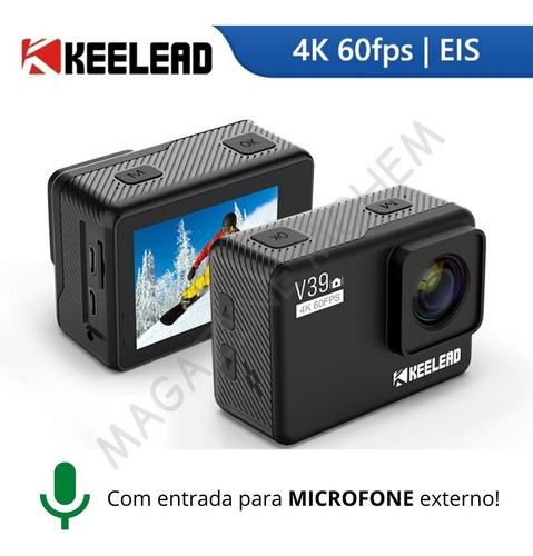 Câmera Keelead V39 4k 60fps Ultra Hd + Acessórios Originais